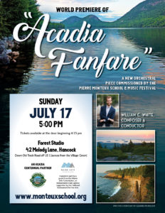 Acadia Fanfare Poster - small